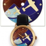 Aftermarket cloisonne enamel dial on 1954 Omega by Antiquorum