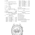Omega Speedmaster Olympic Design Drawing Patent