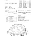 Omega Speedmaster 9300 Design Drawing Patent