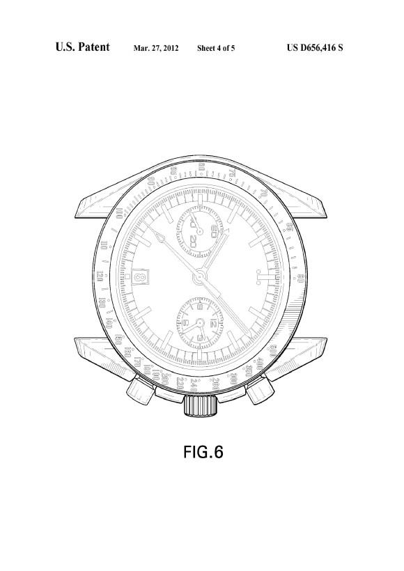 Omega Speedmaster 9300 Design Drawing Patent