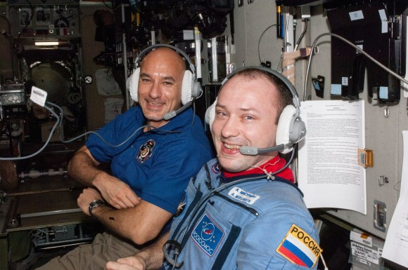 ESA astronaut Luca Parmitano and Cosmonaut Aleksandr Misurkin