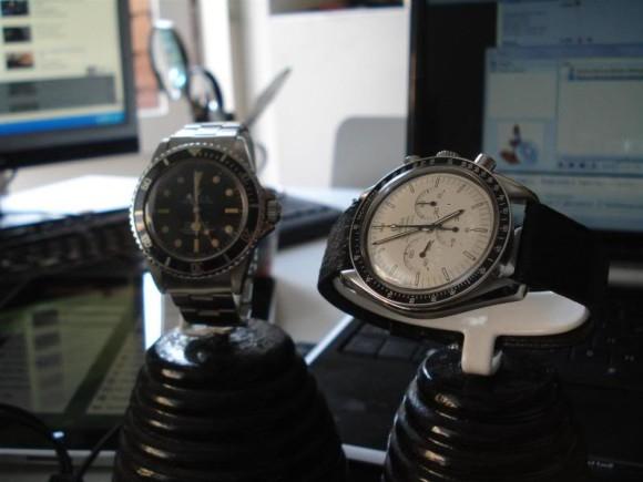 Rolex Submariner 5512 & Omega Speedmaster Professional 145.0022 / 345.0818