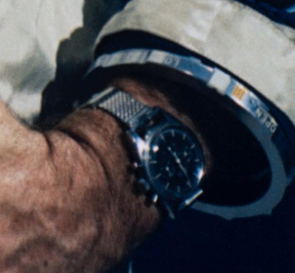 Walter M. Schirra Jr Speedmaster close-up