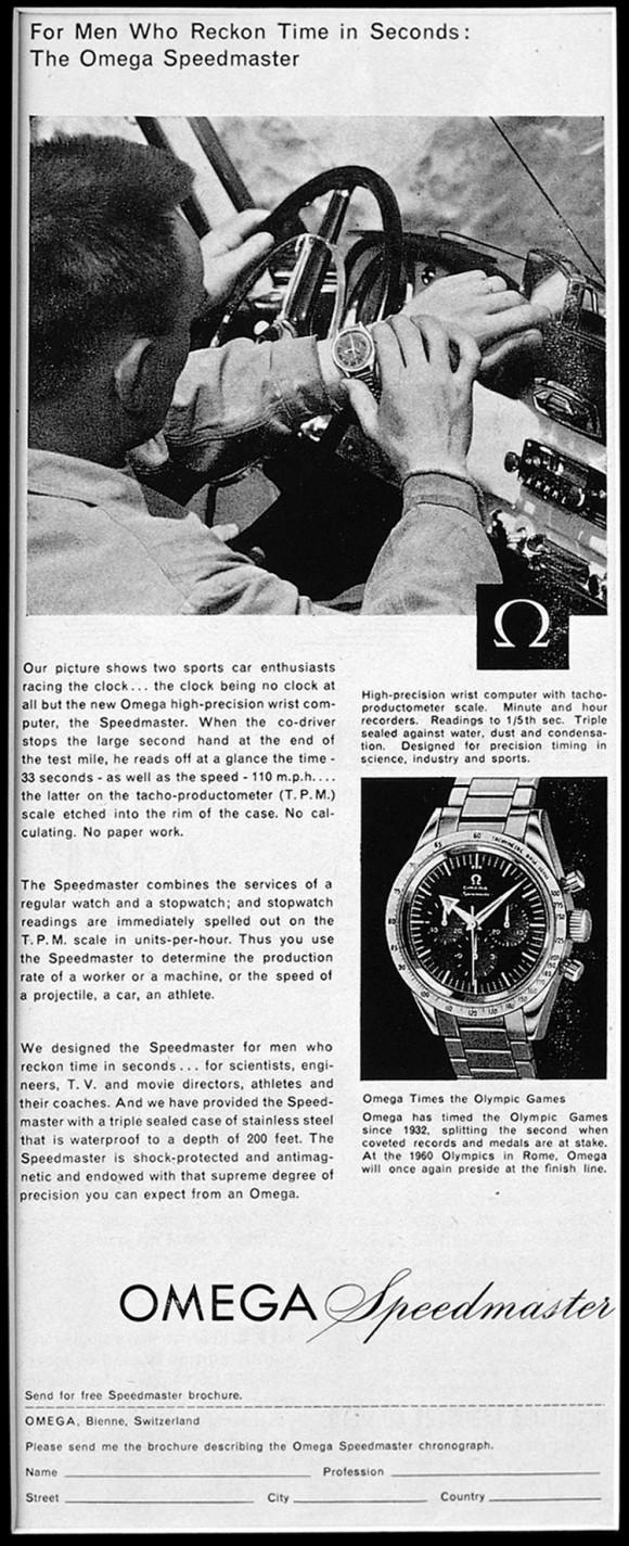 1958 Omega Speedmaster Advertisement