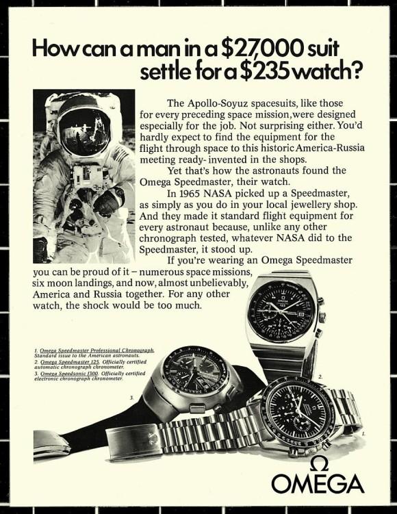 1975 Omega Publicity Speedmaster Speedsonic, Professional, 125