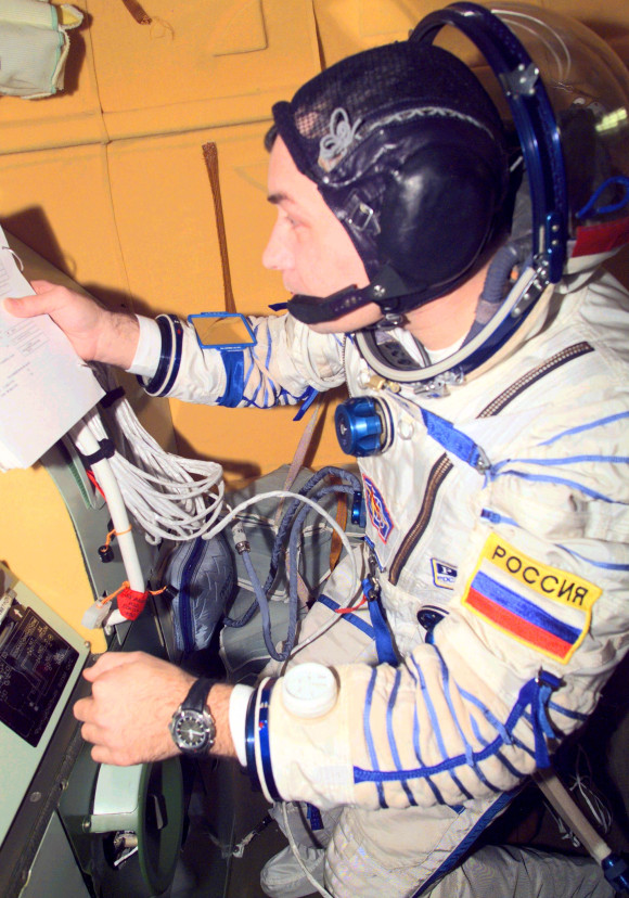 Cosmonaut with Omega Speedmaster