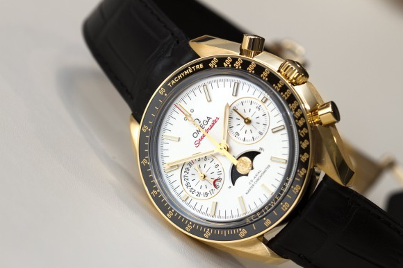 Omega Speedmaster Master Chronometer Moonphase Gold
