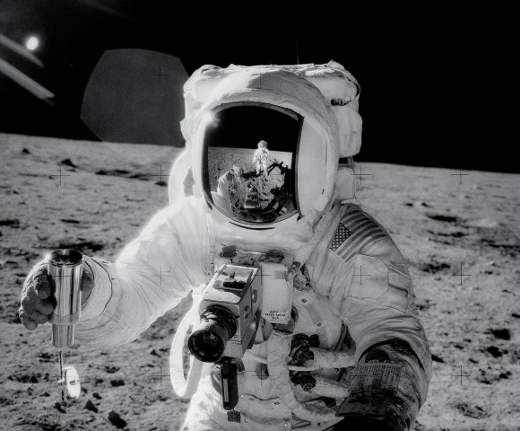 Alan Bean with Omega Speedmaster