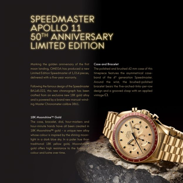 a17286990ea Press Release: Omega Speedmaster Apollo 11 50th Anniversary. It is ...